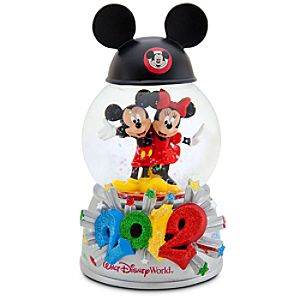2012 Minnie Mouse and Mickey Mouse Walt Disney World Snowglobe