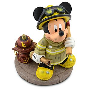 Fireman Mickey Mouse Figure -- 9 1/2 H