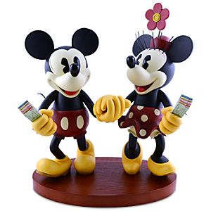 Pie-Eyed Minnie Mouse and Mickey Mouse Figure -- 15 H