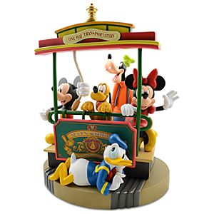 Main Street Trolley Mickey Mouse and Friends Figure -- 13 H