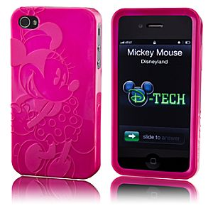 Metallic Pink Minnie Mouse iPhone 4 Case