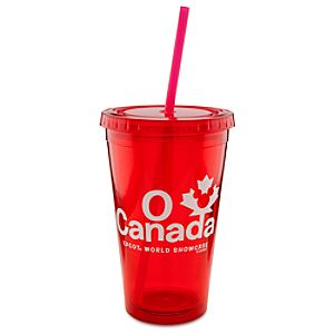Epcot World Showcase Canada Pavilion O Canada Tumbler With Straw