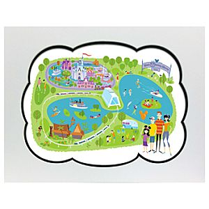 40th Anniversary Walt Disney World Map Deluxe Print by SHAG