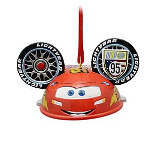 Limited Edition Ear Hat Lightning McQueen Ornament