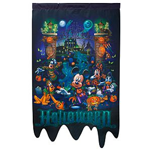 The Haunted Mansion Halloween Mickey Mouse Yard Flag