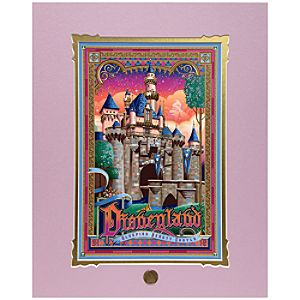Disneyland Sleeping Beauty Castle Deluxe Print by Jeff Granito
