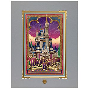 Walt Disney World Cinderella Castle Deluxe Print by Jeff Granito
