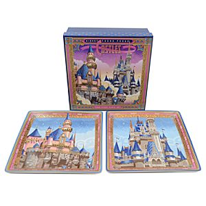 Disneyland and Walt Disney World Castles Plate Set by Jeff Granito -- 4-Pc.