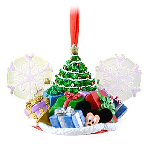 Limited Edition Christmas Tree Mickey Mouse Ear Hat Ornament