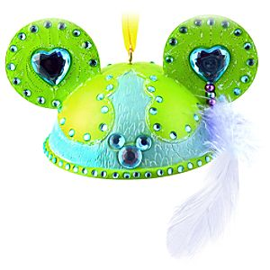 Limited Edition Teal and Green Mickey Mouse Ear Hat Ornament