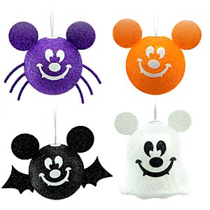 Halloween Mickey Mouse Ornament Set -- 4-Pc.