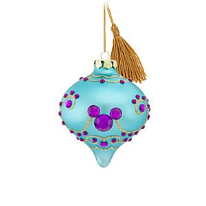 Bohemian Jeweled Mickey Mouse Ornament -- Blue