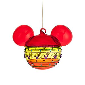 Bohemian Mickey Mouse Ornament -- Multicolor