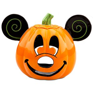 Mickey Mouse Jack O'Lantern Candle Holder