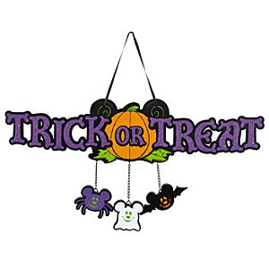 Halloween Trick or Treat Mickey Mouse Welcome Sign