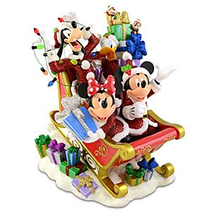 Santa Mickey Mouse and Friends Holiday Figurine