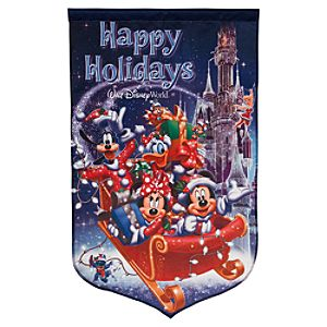 Mickey Mouse Yard Flag - Walt Disney World - Holiday