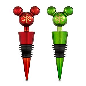 Mickey Mouse Bottle Stopper Set - Holiday