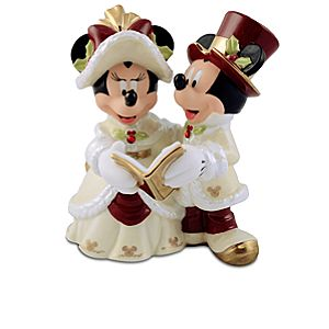 Minnie and Mickey Mouse Holiday Figurine
