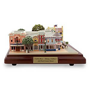 Disneyland Castle Bros., Disney Clothiers, and East Center Street Miniature by Olszewski