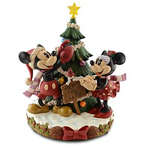 Minnie and Mickey Mouse Tree Figurine