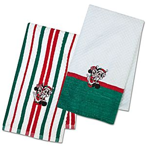 Mickey and Minnie Mouse Kitchen Towel Set - Holiday