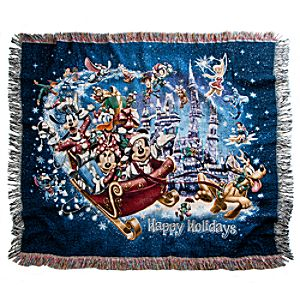 Mickey Mouse Tapestry Woven Throw - Holiday