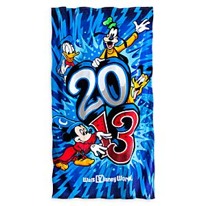 Sorcerer Mickey Mouse and Friends Beach Towel - Walt Disney World 2013