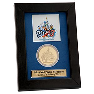 Walt Disney World 2013 Gold Plated Medallion