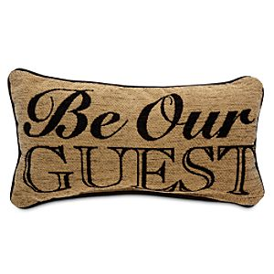 Beauty and the Beast Pillow - Be Our Guest