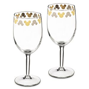 Mickey Mouse Icon Wine Glass Set
