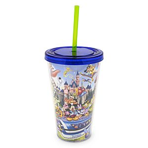 Mickey Mouse and Friends Tumbler with Straw - Disneyland