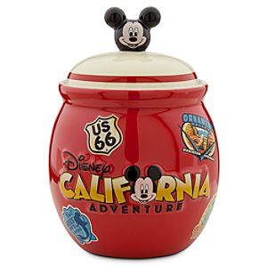 Mickey and Minnie Mouse Disney California Adventure Candy Jar