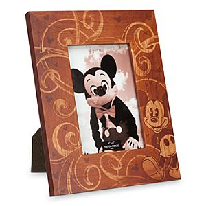 Mickey Mouse Illustrated Wood Photo Frame - 4 x 6