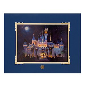 Sleeping Beauty Castle Deluxe Print by George Scribner
