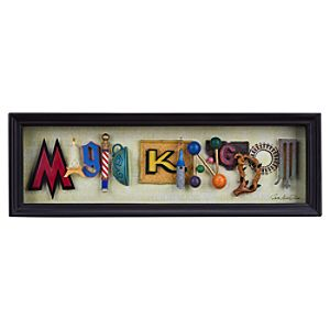 Magic Kingdom Icon Letters Shadowbox by Dave Avanzino