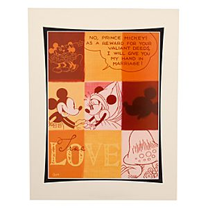 Mickey and Minnie Mouse Love Print by Costa Alavesos