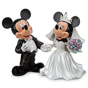 Mickey and Minnie Mouse Wedding Figure