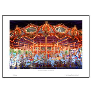Carrousel Horses Art Print by Scott Brinegar