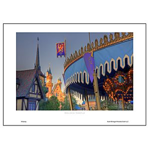 Golden Castle Art Print by Scott Brinegar