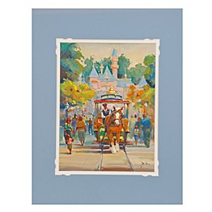 Disneyland Horse Drawn Carriage Art Print