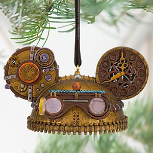 Steampunk Ear Hat Ornament - Clock