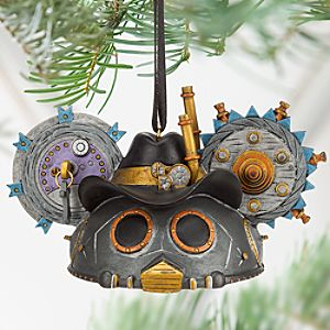 Steampunk Ear Hat Ornament - Cowboy