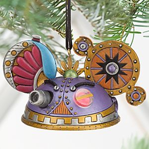 Steampunk Ear Hat Ornament - Purple