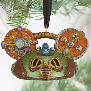 Steampunk Ear Hat Ornament - Green