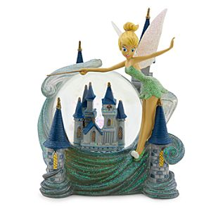 Tinker Bell and Cinderella Castle Snowglobe - Walt Disney World