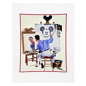 Walt Disney Triple Self Portrait Art Print by Charles Boyer