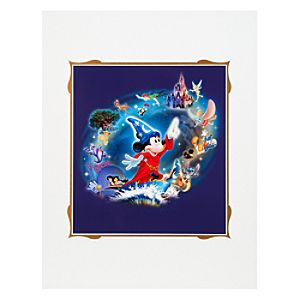 Sorcerer Mickey Magic Lives Art Print