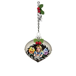 Alice in Wonderland Glass Drop Ornament