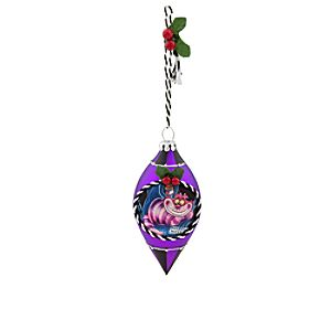 Cheshire Cat Glass Drop Ornament